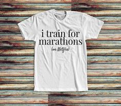 New and Exclusive Shirt  marathontrainer by trendythreadsapparel