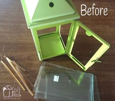 DIY Lantern update with Etched Glass