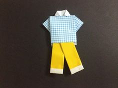 How to make easy origami shirt and pants - YouTube
