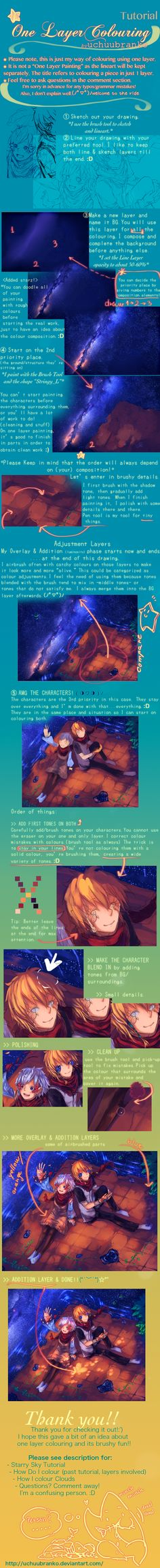 One Layer Colouring [SAI Tutorial] by uchuubranko  More ressources at: http://www.pinterest.com/0b8804nvxotrbj7/