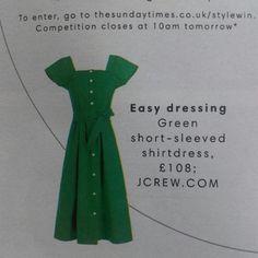 Green J Crew dress