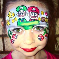 Mario face painting