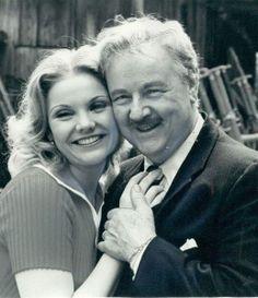 Actor Walter Slezak with daughter actress Erika Slezak.