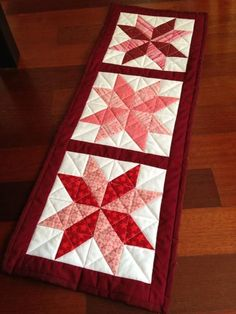 "This could easily be a table runner, potholder, or even made into a quilt.  The pieces basically ""self quilt"" because of the numerous stitches holding it together.  Love it."