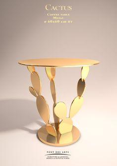 Cactus table Collection - Designer Monzer Hammoud - Pont des Arts Studio- Paris