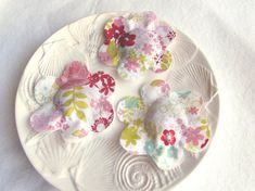 Round Floral Lavender Sachets Sachet Pillows by Itsewbella on Etsy