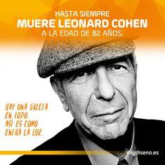 Muere Leonard Cohen a la edad de 82 años. Se nos va un poeta y cantautor inigualable. #LeonardCohen Muchos lo recordaréis por #suzanne #songwriter #bye #forever #music #artist #graphic #poet #poeta #rip