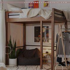 diy loft bed for adults & diy loft bed _ diy loft bed for kids _ diy loft bed for adults _ diy loft beds for small rooms _ diy loft bed plans _ diy loft bed for kids how to build _ diy loft bed with desk _ diy loft bed for kids boys Loft Beds For Small Rooms, Modern Bunk Beds, Small Room Bedroom, Bedroom Loft, Modern Bedroom, Fancy Bedroom, Tiny Bedrooms, Bed Rooms, Loft Bed Ikea