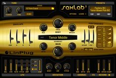 Soppy, Alto, Tenor, Bari, and Bass sounds. Not a bad price either Soprano Saxophone, Native Instruments, Mac Pc, Guitar Amp, Bright, Learning, Software, Music Production, Bari