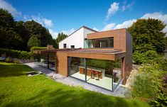 Bronze clad extension in Lenzie by Cameron Webster Architects