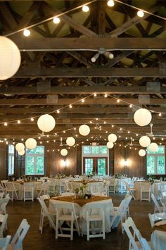 Barn / Farm wedding lights