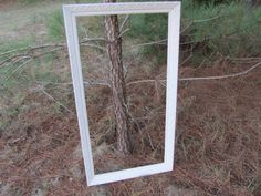 Beautiful white Shabby Chic Frame Vintage by ShayesChicDecorNMore