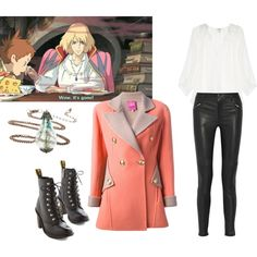 """Casual Howl"" by celeste-eve on Polyvore. Personally love this since I love Howl's moving castle ❤"