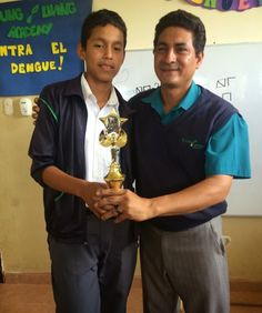 This year's chess champion at Young Living Academy is... Isneider Perez!