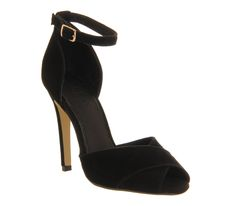 Office Safari 2 Part Sandal Black Suede - High Heels