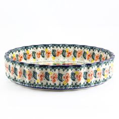 """This Quiche Dish is one of my favorite designs. It looks appetizing just as it is. Display it, use it and enjoy it. A wonderful addition to your kitchen! * 1.7""""H X 7.7"""" DIameter In Poland there is a t"""