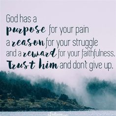 God Has a Purpose for Your Pain - Inspirations