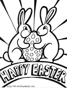 Image Detail For Rabbit Say Happy Easter Coloring Pages Disney