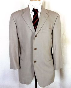 0edc10449 euc Hugo Boss Einstein Sigma Light Tan Blazer Sportcoat wool polyamid nylon  40 S #HugoBoss