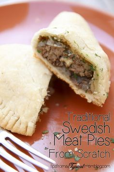Traditional Swedish Meat Pies from Scratch Swedish Meat Pies from Scratch. This is the perfect comfort food that the whole family will love! Swedish Cuisine, Swedish Dishes, Swedish Recipes, Swedish Foods, Norwegian Recipes, Russian Recipes, Beef Recipes, Cooking Recipes, Curry Recipes