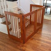 Shop for 4 Panel Freestanding Tall Pet Gate. Get free delivery On EVERYTHING* Overstock - Your Online Dog Supplies Store! Baby Gate For Stairs, Diy Baby Gate, Stair Gate, Baby Gates, Tall Pet Gate, Dog Kennel Cover, Dog Fence, Shed Plans, New Homes