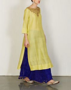 Lime Kurta & Sharara