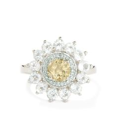 An engaging Ring from the Annabella collection, made of Sterling Silver featuring 2.52cts of wonderful Golden Beryl with White Topaz.
