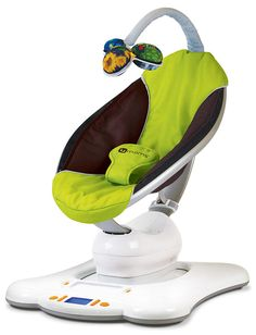 "Mama Roo - It's a swing, a bouncer. The amazing thing - it moves like YOU do, not just back and forth. And it has a ""Car Seat"" simulation. Amazing."