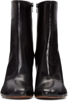 Vetements - Black Leather Ankle Boots