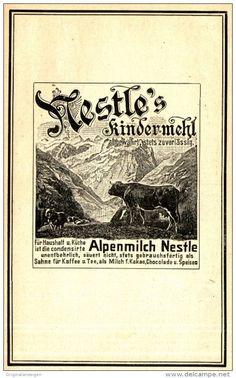 Original-Werbung/ Anzeige 1905 - NESTLÉ'S KINDERMEHL - ca. 100 x 155 mm