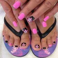 when everything matches and you still look fabulous noclash lookgood Pretty Toe Nails, Cute Toe Nails, Fancy Nails, Pink Nails, My Nails, Pink Toes, Pretty Toes, Toenail Art Designs, Fingernail Designs