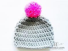 Super Bulky Crochet Hat Pattern (free & easy) | Chunky Crochet Hat Basic Crochet Beanie Pattern, Chunky Crochet Hat, Beanie Knitting Patterns Free, Beanie Pattern Free, Crochet Baby Beanie, Crochet Blanket Patterns, Crochet Hats, Scarf Crochet, Free Crochet