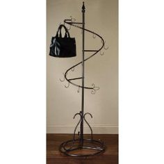 Spiral Purse Tree Retail Rack Floor Display Purse Handbag Metal Display Tree Stand / Coat Rack, Brown Painted Finish Our Spiral Purse Tree is the perfect display for purses or handbags. Handbag Storage, Handbag Organization, Closet Organization, Storage For Purses, Organizing Purses, Handbag Organizer, Closet Storage, Purse Holder, Purse Rack