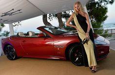 Model #JodieKidd attends the 70th #Venice International #Film Festival at Terrazza #Maserati with a Maserati GranCabrio Sport. #Venezia70