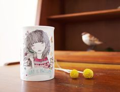 beautiful mug illustration by Lady Desidia