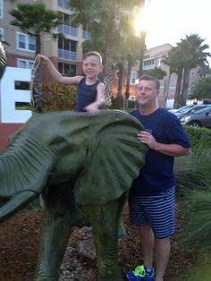 Riding the elephant!