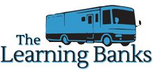 The Learning Banks are 2 geeks, 2 dogs and 1 34' RV.