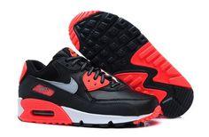Air Max 90 Women's Shoe Black / Red / White / Metallic Silver