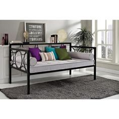 DHP Rebecca Black Circular Metal DayBed - Overstock™ Shopping - Great Deals on Dorel Home Products Beds