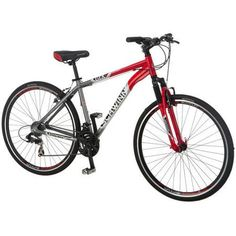 Schwinn Men's GTX 2 Mountain Bike Dual Sport, Cheap Bikes, Used Bikes, Matte Red, Mountain Biking, Hybrid Bikes, Daily Deals, Cyber Monday, Bicycles