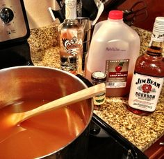 From the inventors of the apple pie sangria...the caramel apple hot toddy! OMG sounds fantastic! Making this as soon as I finish my glass of apple pie sangria!