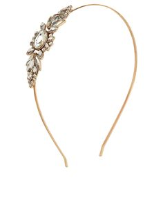 Crystal Deco Alice Band | Gold | Accessorize