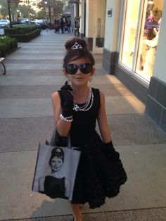 Anissa's Audrey Hepburn breakfast at Tiffany's Costume.