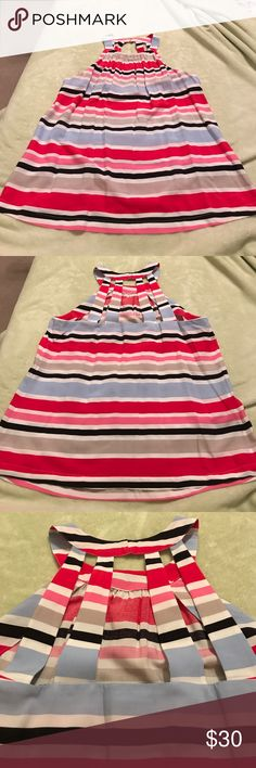 Cynthia Rowley Sleevless Striped Top Gorgeous top in perfect condition! Purchased but never worn!! Cynthia Rowley Tops Blouses