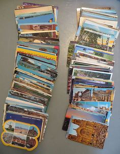 Large 400 Vintage US Postcard Lot States, Cities, Some Foreign Countries Travels