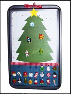 Cookie Sheet Advent Calendar Craft   Can be done for any holiday or event