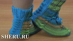 Яркие носки без швов спицами Урок 152