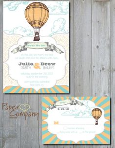 UP UP and AWAY Wedding Save the by PaperHeartCompany on Etsy, $25.00