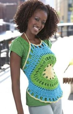 Happy Days Halter Crochet Pattern -- I think I need to make this one.  Should be an easy way to add to my wardrobe for spring.