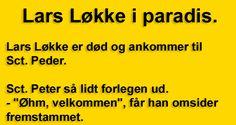 Lars L�kke i paradis.